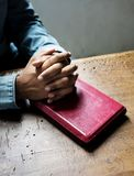 People is praying to God Royalty Free Stock Photo