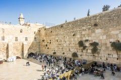People praying at Western Wall, Jerusalem Stock Images