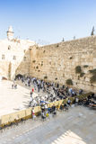 People praying at Western Wall, Jerusalem Stock Images