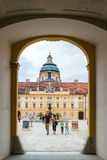 People in Prelate court of Melk Abbey, Austria Stock Photography