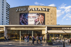 People at the premiere cinema Zoo Palast in Berlin Stock Images
