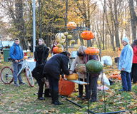 People preparing for Halloween celebrate, Lithuania Stock Photo