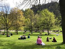 People in Princes Street Gardens Stock Photography
