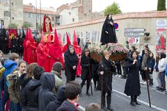 Easter procession in Perpignan Stock Images