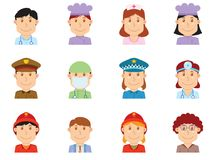 People profession avatar part one Stock Photo