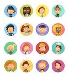 People Profession Cartoon Avatars Set Royalty Free Stock Photo