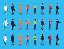 People Professions Characters Isometric Vector Men vector illustration