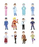 People and professions. Colored characters Royalty Free Stock Images