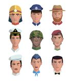 People and professions. Colored characters Stock Photography