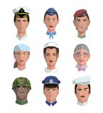 People and professions. Colored characters Royalty Free Stock Image