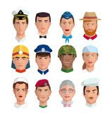 People and professions. Colored characters Royalty Free Stock Photo