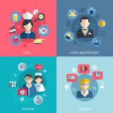 People professions concept Royalty Free Stock Image