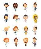 People Professions Cute Cartoon Icons Stock Photos