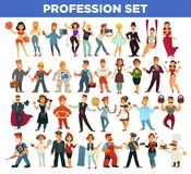 People professions and occupation specialists vector flat isolated set Stock Photo