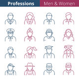 People professions and occupations Stock Photos