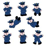 People Professions - Policeman Set Stock Photo