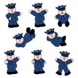 People Professions - Policeman Set. Cartoon set of cute policemen Stock Photo