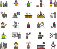 People and professions. A set of icons of various people and various professions Royalty Free Stock Photos