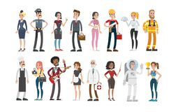 People professions set. Stock Image
