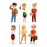 People professions vector. Stock Photos