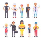 People professions vector set. Royalty Free Stock Image