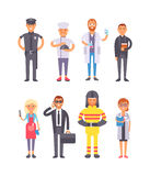 People professions vector set. Royalty Free Stock Photo
