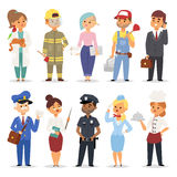 People professions vector set. Stock Photos