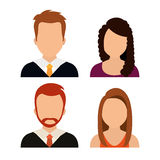 People profile graphic. Design, vector illustration eps10 Stock Photography