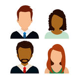 People profile graphic. Design, vector illustration eps10 Royalty Free Stock Image