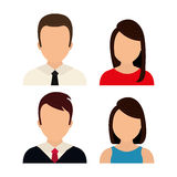 People profile graphic. Design, vector illustration eps10 Stock Photo