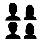People profile graphic Royalty Free Stock Image