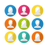 People profile graphic. Design, vector illustration eps10 Royalty Free Stock Photo
