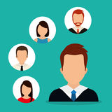 People profile graphic. Design, vector illustration eps10 Stock Images