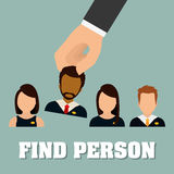 People profile graphic Stock Image