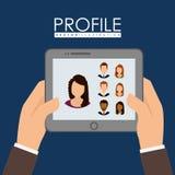 People profile graphic Stock Photo