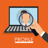 People profile graphic Royalty Free Stock Photography