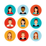 People profile graphic. Design, vector illustration eps10 Royalty Free Stock Images