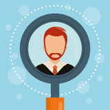 People profile graphic. Design, vector illustration eps10 Stock Image