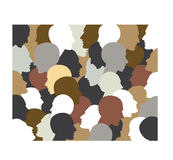 People profile heads. Royalty Free Stock Photo