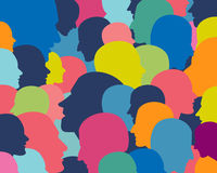 People profile heads. Royalty Free Stock Photos