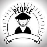 People profile retro design Stock Photo