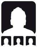 People profile silhouettes Royalty Free Stock Image
