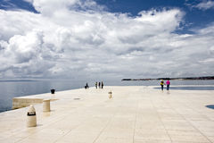 People on the promenade. Of zadar, croatia Royalty Free Stock Images