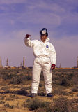 People in protective clothing. Defines environmental analyzes Royalty Free Stock Images