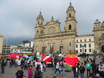 People in protest in Bogota, Colombia. Royalty Free Stock Photography