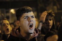 25000 people protest in Bucharest ask for justice Stock Image