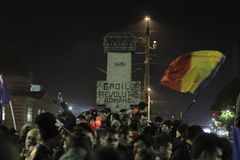65000 people protest in Bucharest ask for political class change Stock Photos