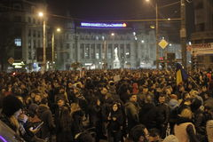 65000 people protest in Bucharest ask for political class change Stock Photo