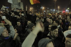 65000 people protest in Bucharest ask for political class change Stock Images