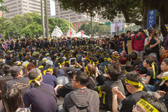 Free People Protest Taiwan S Trade Pact Stock Photography - 39296642